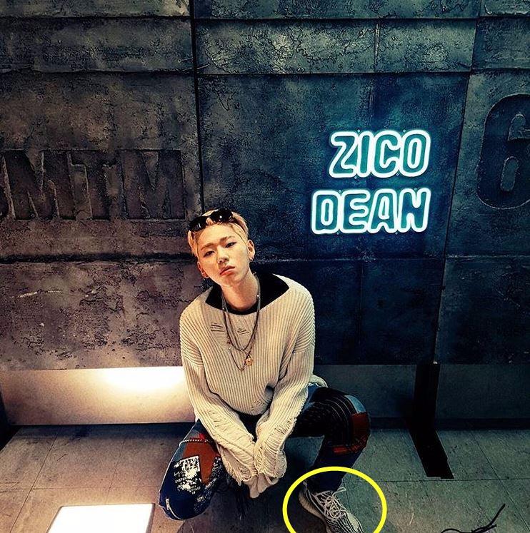 卻有人發現那和Zico最近經常穿的運動鞋同款,隨著照片上的共同點被發現,韓國媒體《國民日報》和《Asia today》也跟進報導,讓兩人復合的傳言在網友之間擴散。
