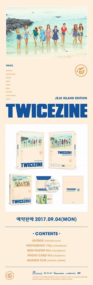 TWICE的週邊真的買不完,幾乎每個星期都有新的週邊,這次所推出TWICEZINE JEJU ISLAND EDITION