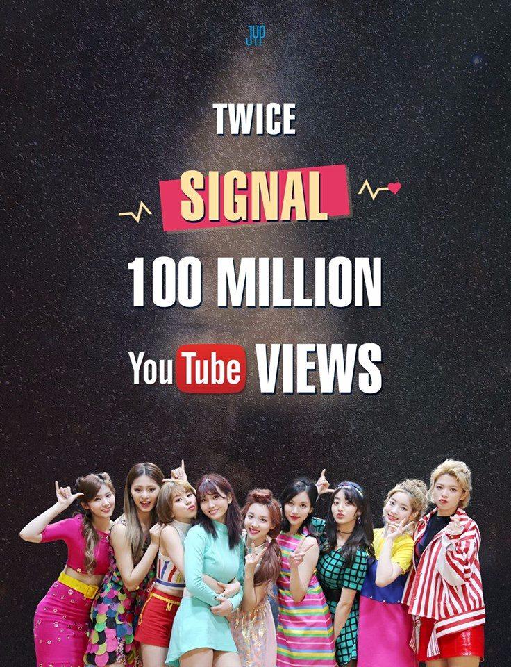 TWICE出道後憑藉著個人魅力以及獨特色彩在韓國演藝圈闖出一片天,所推出的音樂作品也受到全球粉絲的喜愛,TWICE共有5首歌曲的MV在YouTube的點閱次數破億(拍手!!!)