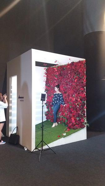 展覽館另一重點,少女風花朵攝影棚,貼心的幫你打好燈光,加上滿滿花朵的佈置,一定趕快來拍一大堆po在IG讓朋友羨慕啊!