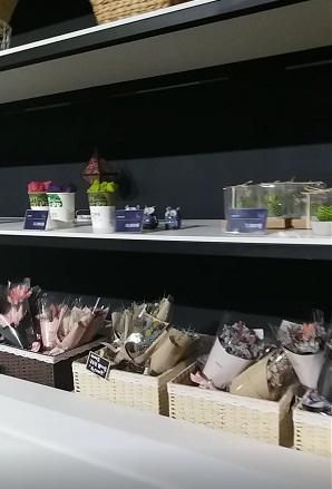 售賣乾花商品的小小禮品店