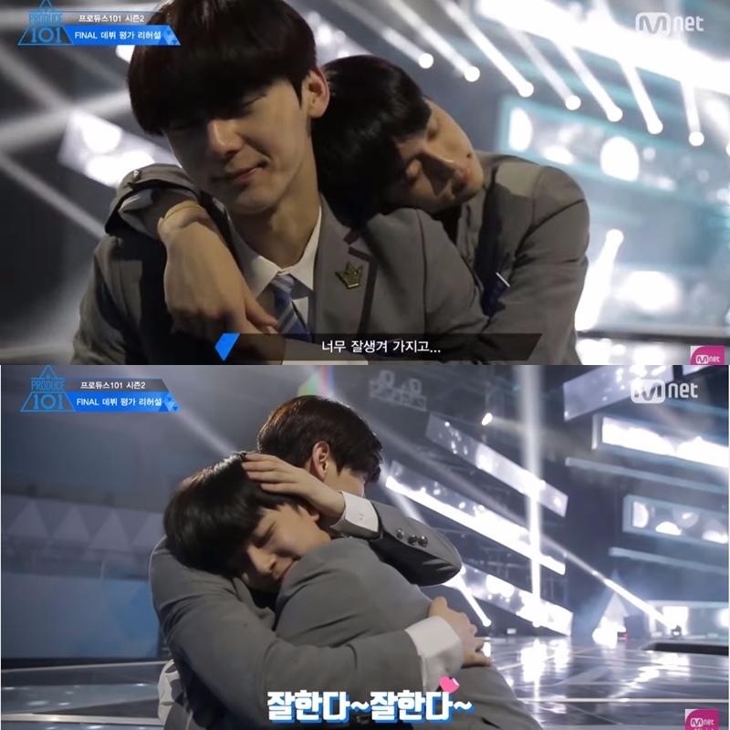 在《PRODUCE 101》中柳善皓和黃旼炫的可愛互動,讓粉絲看得心暖暖,雖然一開始黃旼炫表示對小雞過度的SKINSHIP表示吃不消,但到最後兩人卻一直抱來抱去閃瞎觀眾啊~