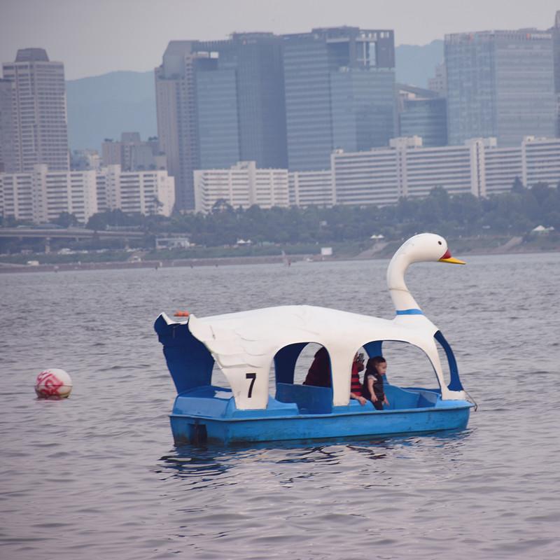 比較省力氣一點,可以選擇跟愛人閨蜜一起乘坐全天開放的天鵝船