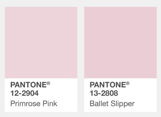 #淺粉紅色 Primrose櫻草粉、Ballet Slipper芭蕾舞鞋粉紅 當然少女們的粉紅色這個秋天也沒有少,不過比起亮粉紅、桃紅、深粉紅,今年秋冬流行的是淺粉紅!