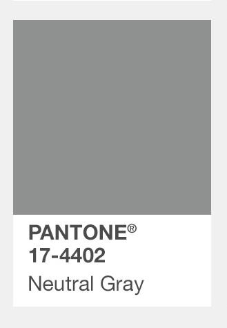 #灰色 Neutral Gray中性灰 最後就是萬年不敗的灰色,雖然不敗,不過今年又回到大主流,如果真的不想穿得花花綠綠的話,就穿灰色吧!