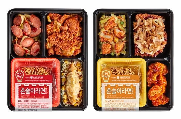 BUT...近幾年來韓國便利商店大幅改善 不但開始有很多超誘人的美味便當 也有直接為客人料理的服務