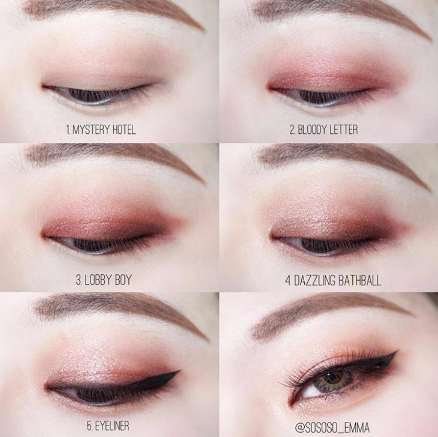 暖橘調的眼影相對粉色來說就比較不挑,眼神變得比較深遂,而且讓人有一種溫暖的感覺啊XD