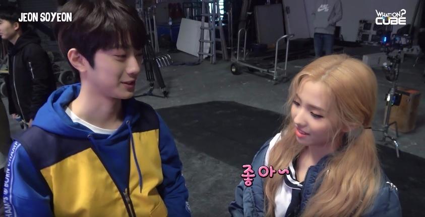 賴冠霖問全素妍今天的心情如何? 這眼神和身高差...難怪韓國網友都超心動XD