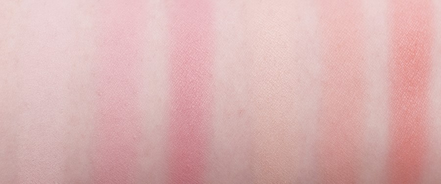 實擦起來這六個色都是全霧面的,甚至帶有點粉粉的柔焦感~