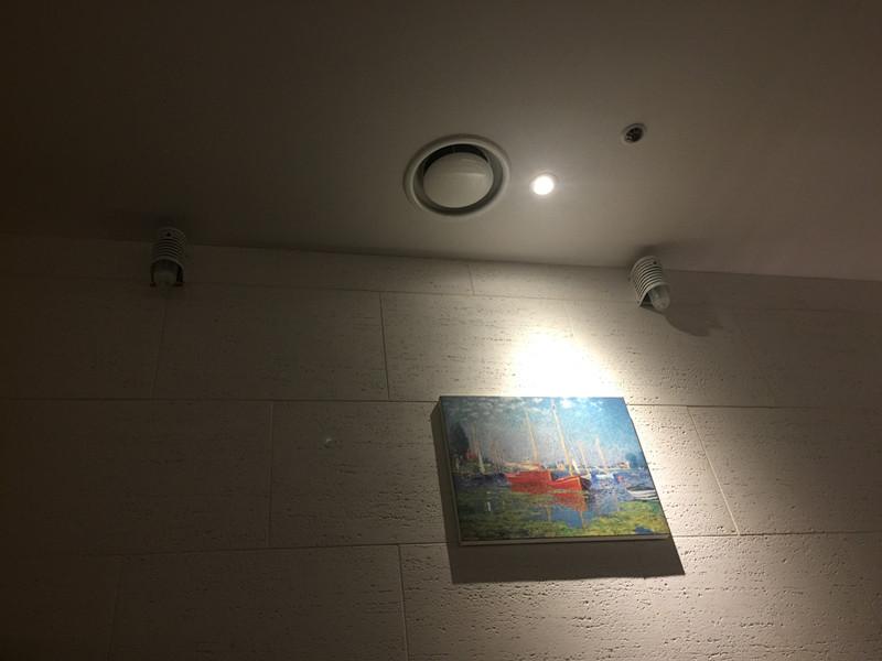 牆壁上還有氧氣瓶每隔一段時間就會放出氧氣,讓客人可以徹底的放鬆休息