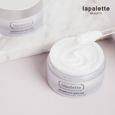 lapalette Beauty旋轉木馬系列在韓國賣最好的就是這款美白日霜了!