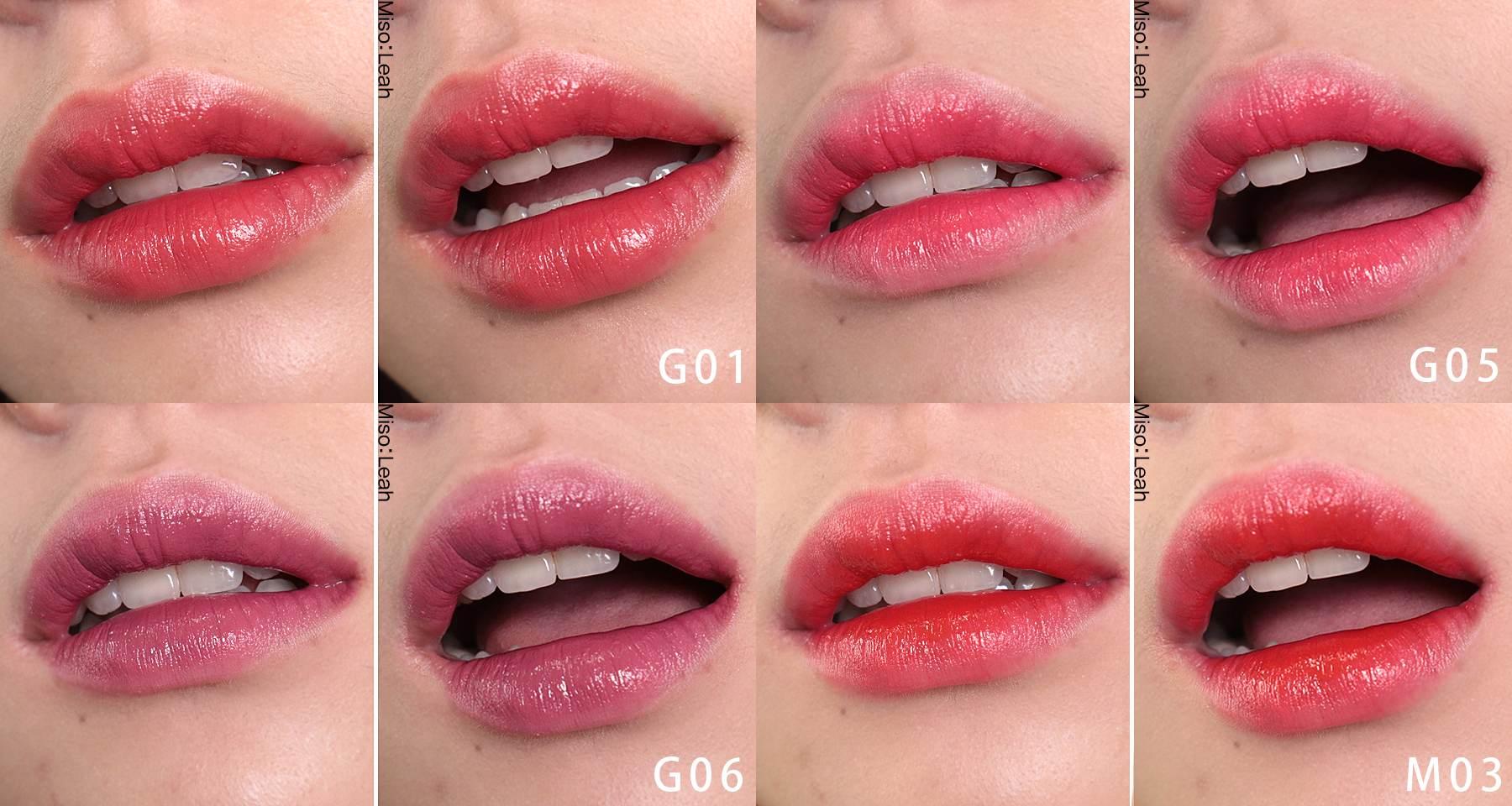 即使是唇部乾燥的人也可以不用護唇膏打底就輕鬆使用!薄擦一層就很顯色,多擦幾層則是能呈現更飽和水潤的樣子~