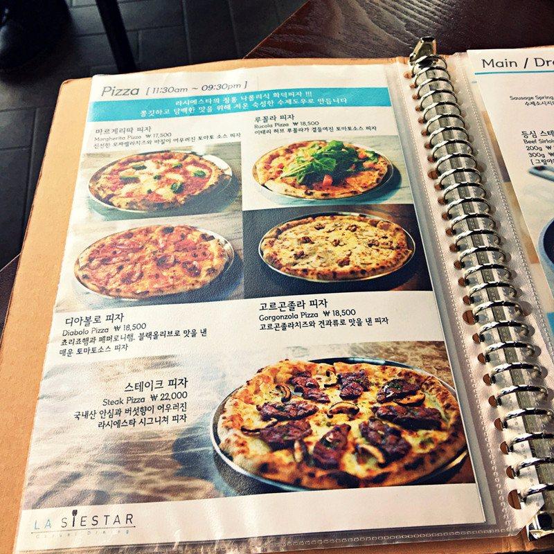 除了義大利麵也有手工窯烤PIZZA喔!