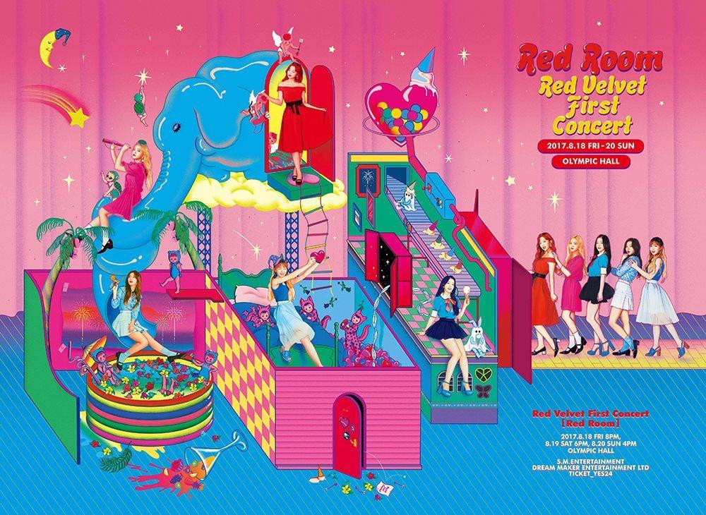 終於在出道3年後舉行首場演唱會《Red Room》的Red Velvet,新奇可愛的海報風格,真的相當適合貝貝~