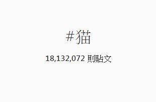 """同場加映~宅精靈發現唯一進入前1000個hashtag的中文標籤居然是第784名的""""貓"""",果然超多人愛曬貓照啊!!"""