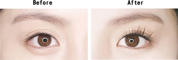 如果你希望睫毛越長越好,長到眉毛的話XDD就可以選擇極致纖長款,看看前後對比就知道,使用過後的睫毛真的長超多啊~