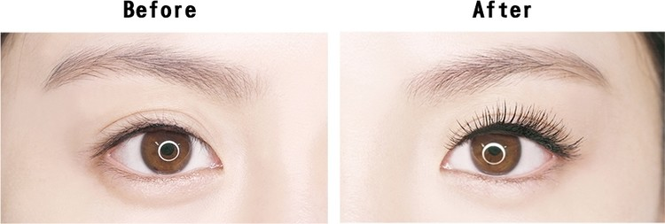 或者是可以選擇濃密款,讓少少的睫毛看起來更豐富,也是最有放大眼睛效果的喔!