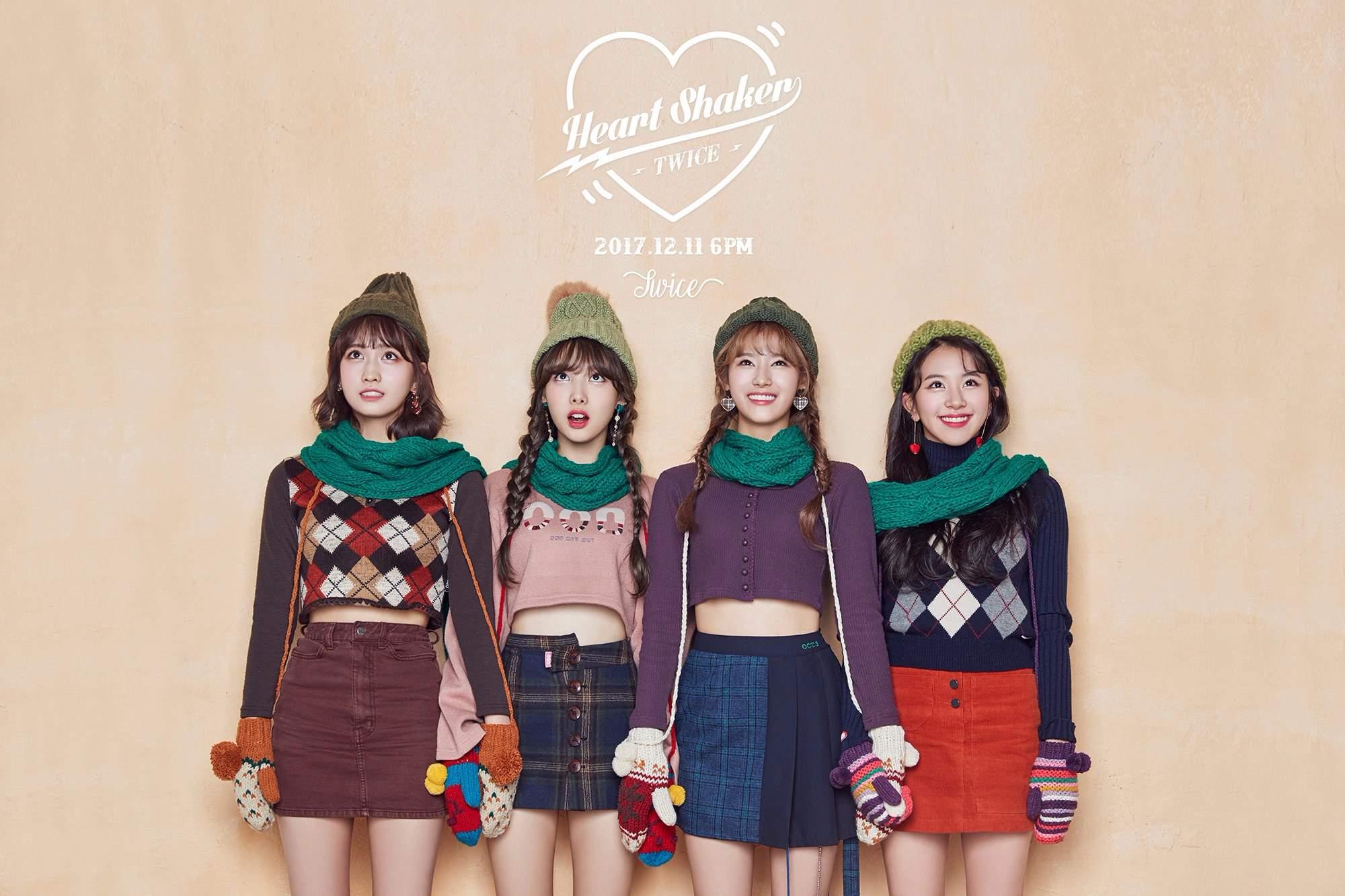 成員不久前才結束正規一輯的活動,JYP又火速宣布TWICE將在12月11日回歸,這次後續曲專輯名稱為《Merry&Happy》正好符合12月聖誕節的氣氛,主打歌《Heart Shaker》更是延續《LIKELY》愛心符號的概念...