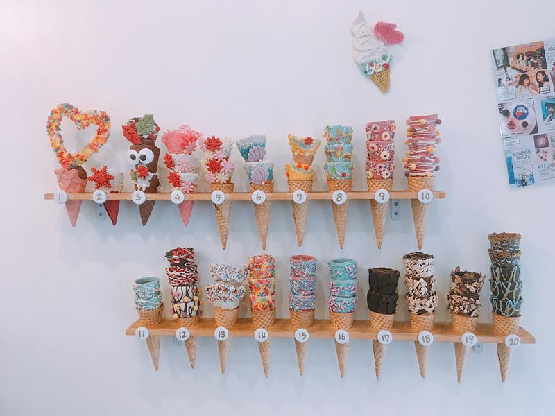 Bistopping主打多樣造型的甜筒,光主要分類就有20種! 每一類還有2-3種稍微變化的不同樣式,讓人光看就遭興奮眼冒愛心