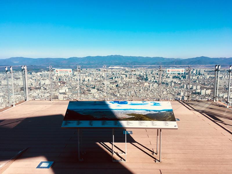 前面告示板有標出各地點,讓遊客可以直接對照眼前的大邱風景。