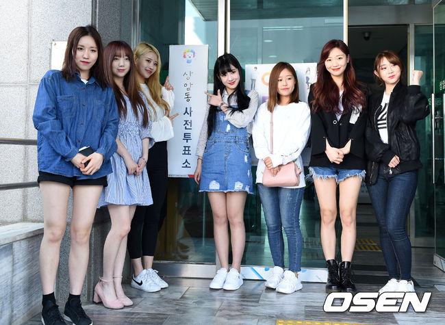 就連真正去投票時穿的私服,也看起來就像是韓國大學女生們會穿的衣服,充滿鄰家妹妹的感覺~