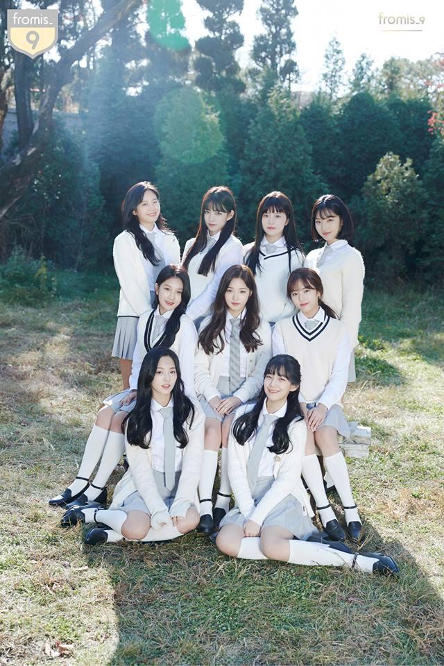 第一組女團就是她們啦~~ 透過選拔節目《偶像學校》而出道的fromis_9