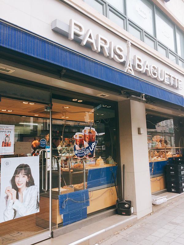 PARIS BAGUETTE在多個城市合共擁有6000多家分店,所以在韓國隨處都可以看到。