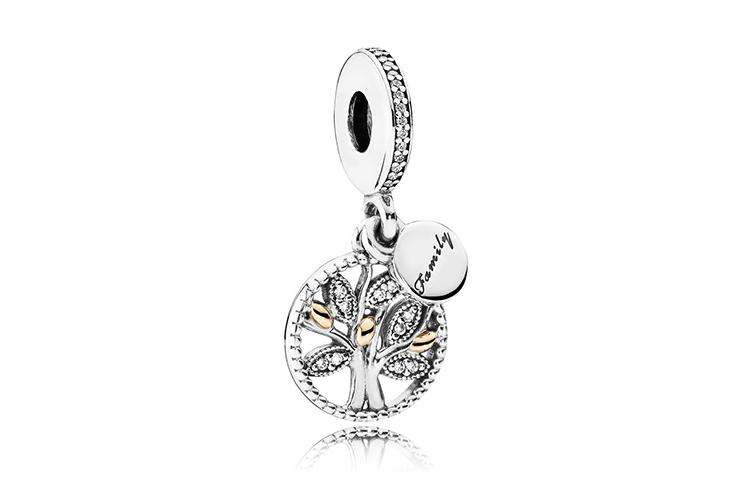 大過年免不了拜年,探視各方長輩,這款Family Tree Silver Dangle Charm象徵家庭與家族,團結又凝聚所有人的心,配上Family的字樣,是拜年最適合配戴的串飾。