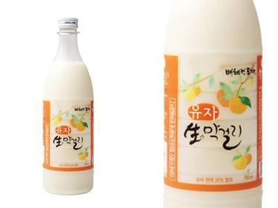 1) BHD 柚子米酒 酒精含量:5% 很濃厚的柚子味,很受韓國女生歡迎!!
