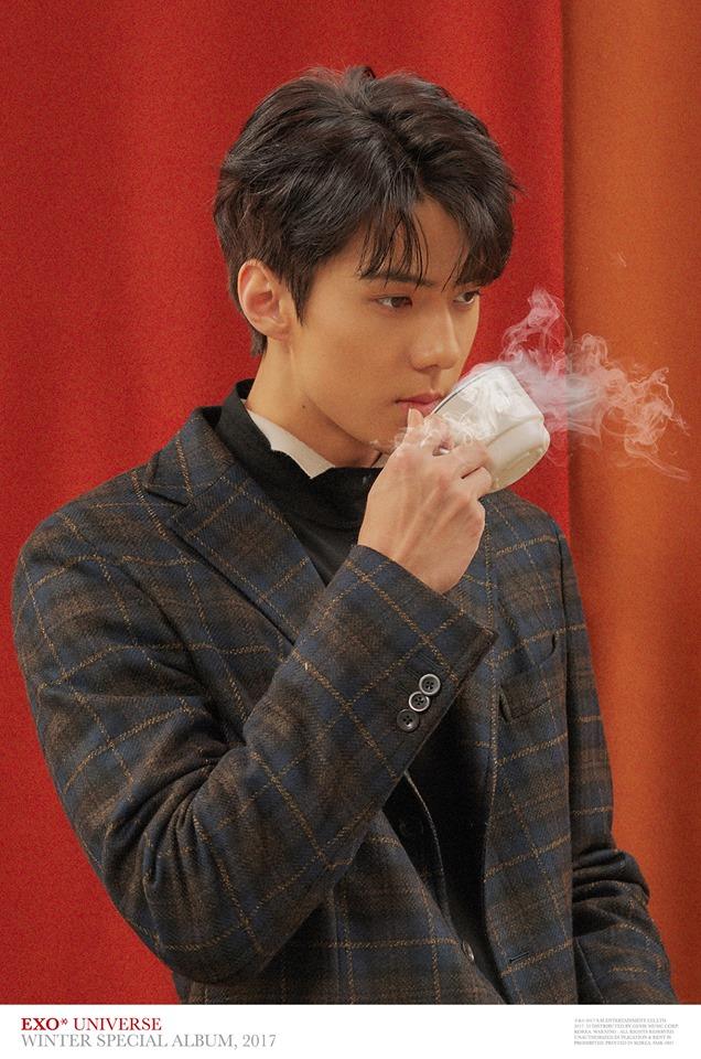 # EXO - 世勳 EXO中有幾位成員在還未正式出道前就因帥氣的外表而出名,世勳的出道過程也相當戲劇化,據說世勳和朋友在路邊吃辣炒年糕就被星探發現,當時世勳才13歲啊!
