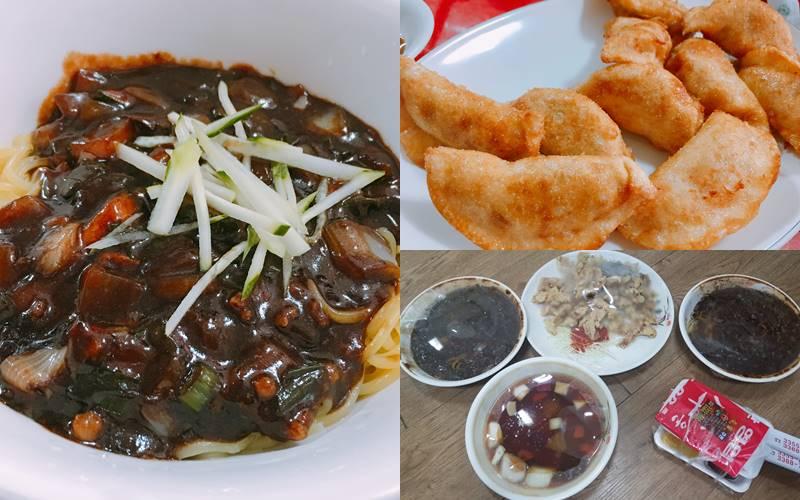 #7 炸醬麵 炸醬麵可配上煎餃或糖醋肉