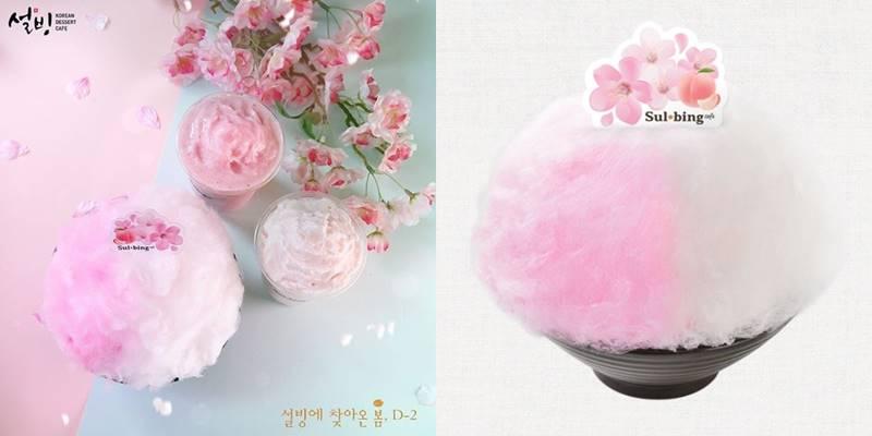 只要訂單滿12,000韓元 (約台幣332元)就可以使用外送服務,連最新上市的「櫻花水蜜桃雪冰」也有!!