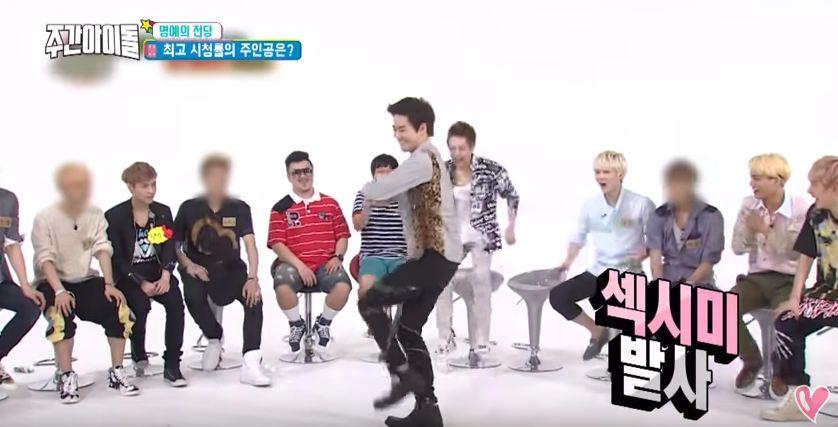 收視率第一名 : EXO隊長Suho表演女團的舞蹈 當時還是12人時期的EXO,讓不少粉絲直呼好懷念!