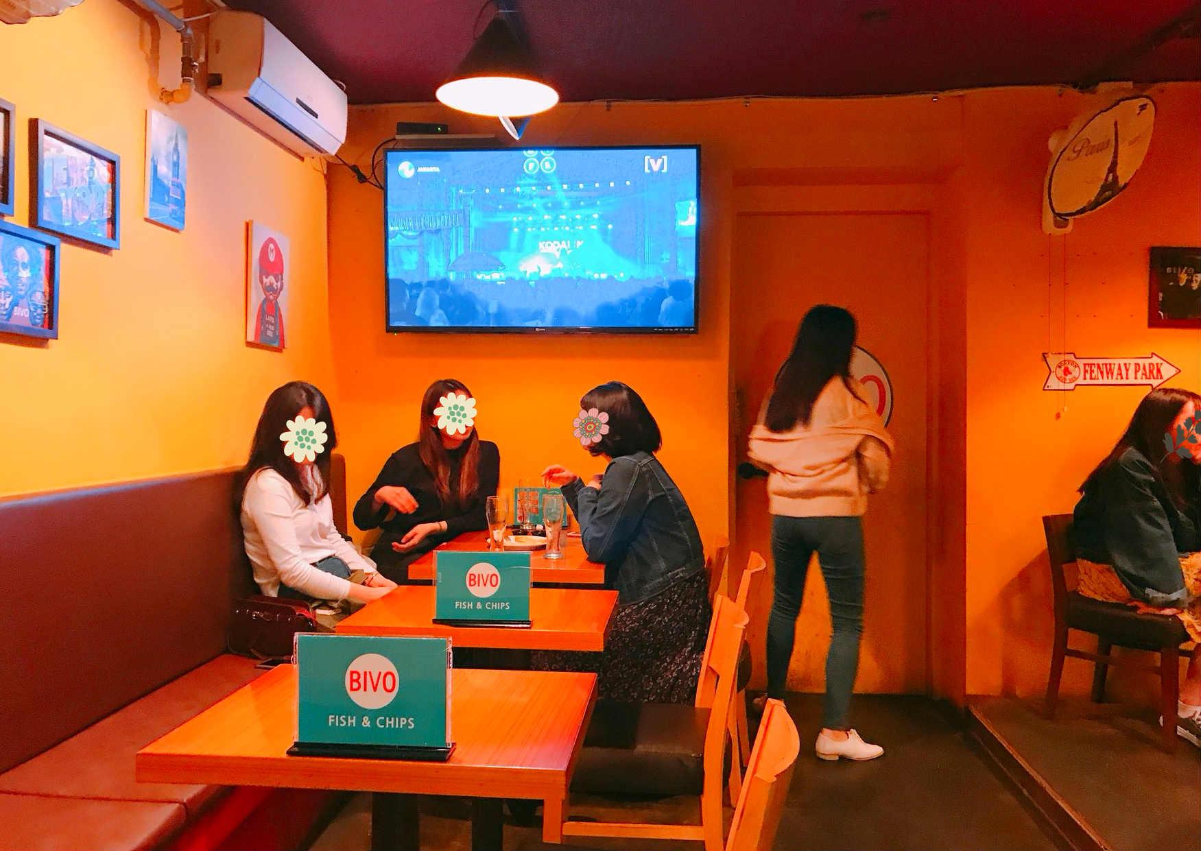 想悠哉地喝一杯酒,卻討厭擠到爆炸的環境,不妨來看看「BIVO」吧! 店名:BIVO (Fish & Chips) 地址:首爾特別市麻浦區和諧廣場路 136-13
