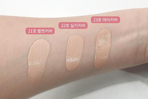 色號分為三種,而歐膩皮膚較白,這次實測的是21號色喔!