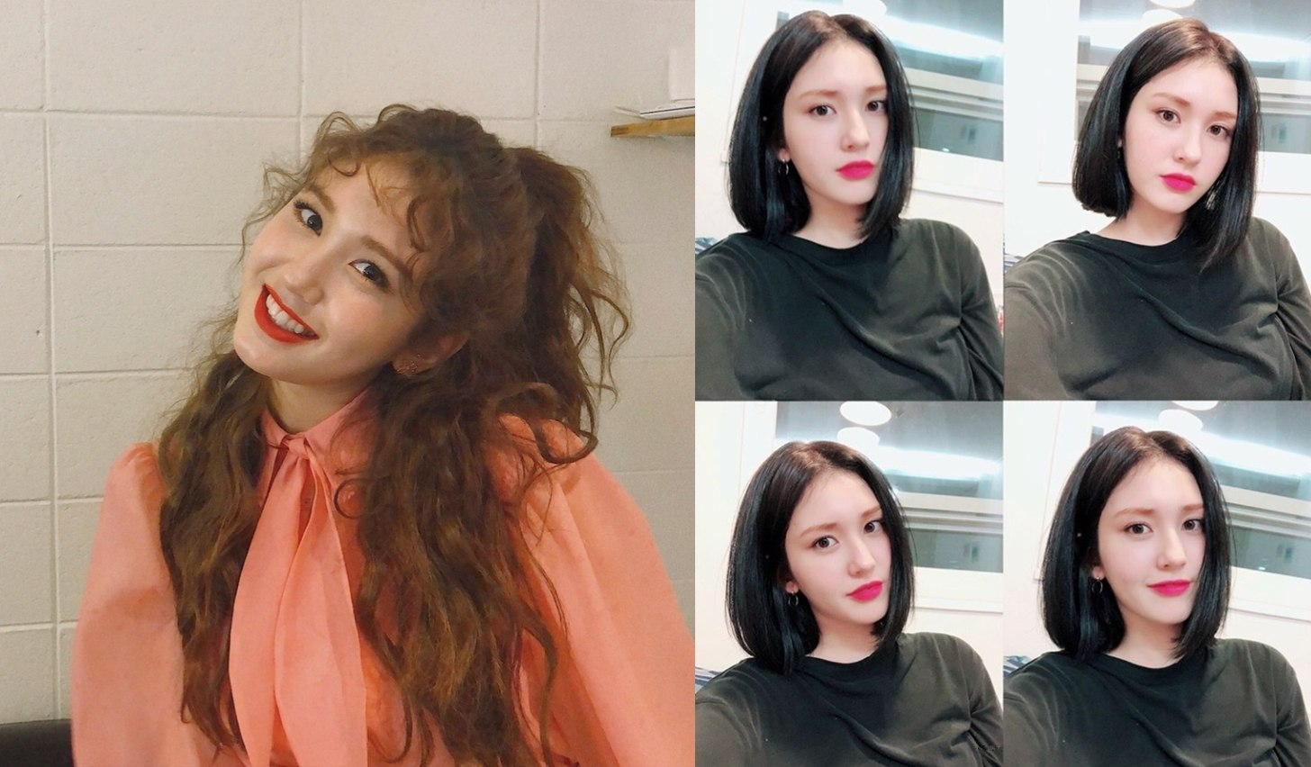 1. Somi 一直以來都有一頭長捲髮的Somi,之前也是剪掉一頭長髮,不過她本人似乎很開心可以剪掉受損的頭髮呢XD