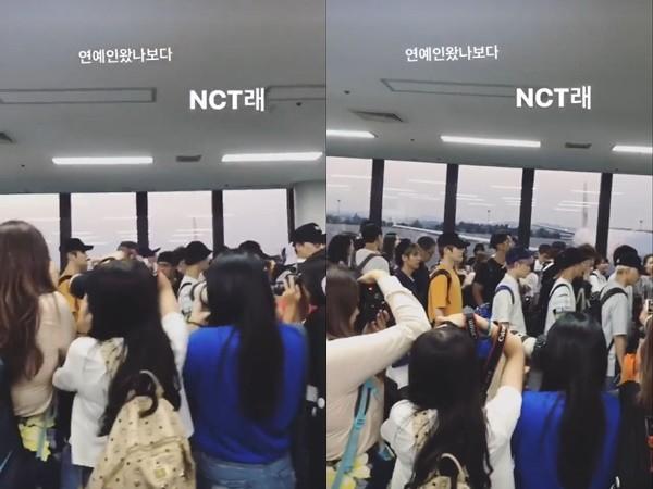 少女時代成員孝淵更曾貼出一群粉絲為了爭睹NCT,而忽略後面竟然是少女時代粉絲經過的爆笑照片,證明如果沒有特別提醒,大家可能很難想像「偶像在身邊」的事實