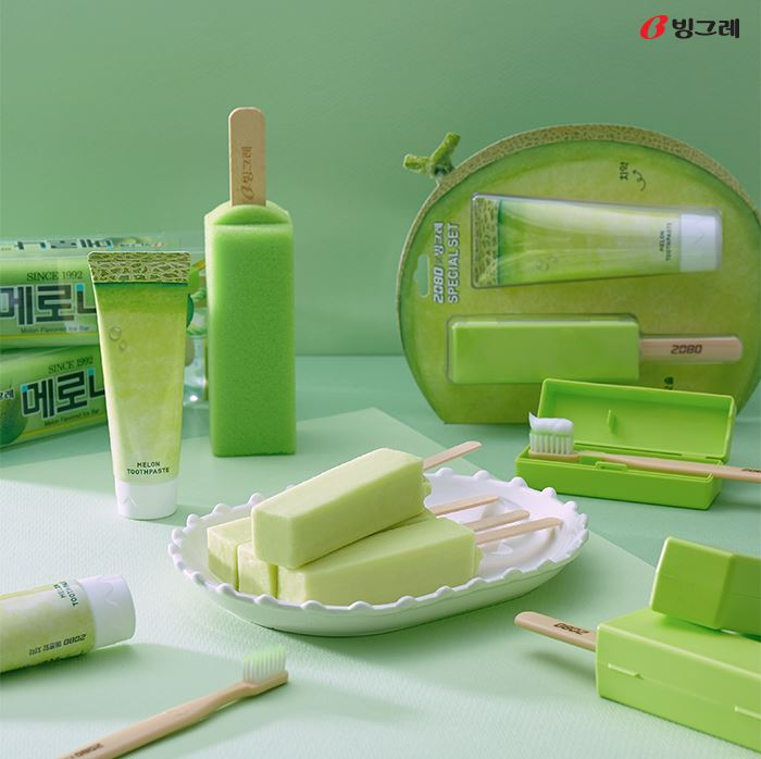 #3 Binggrae 哈密瓜冰棒 販賣量:648億韓元