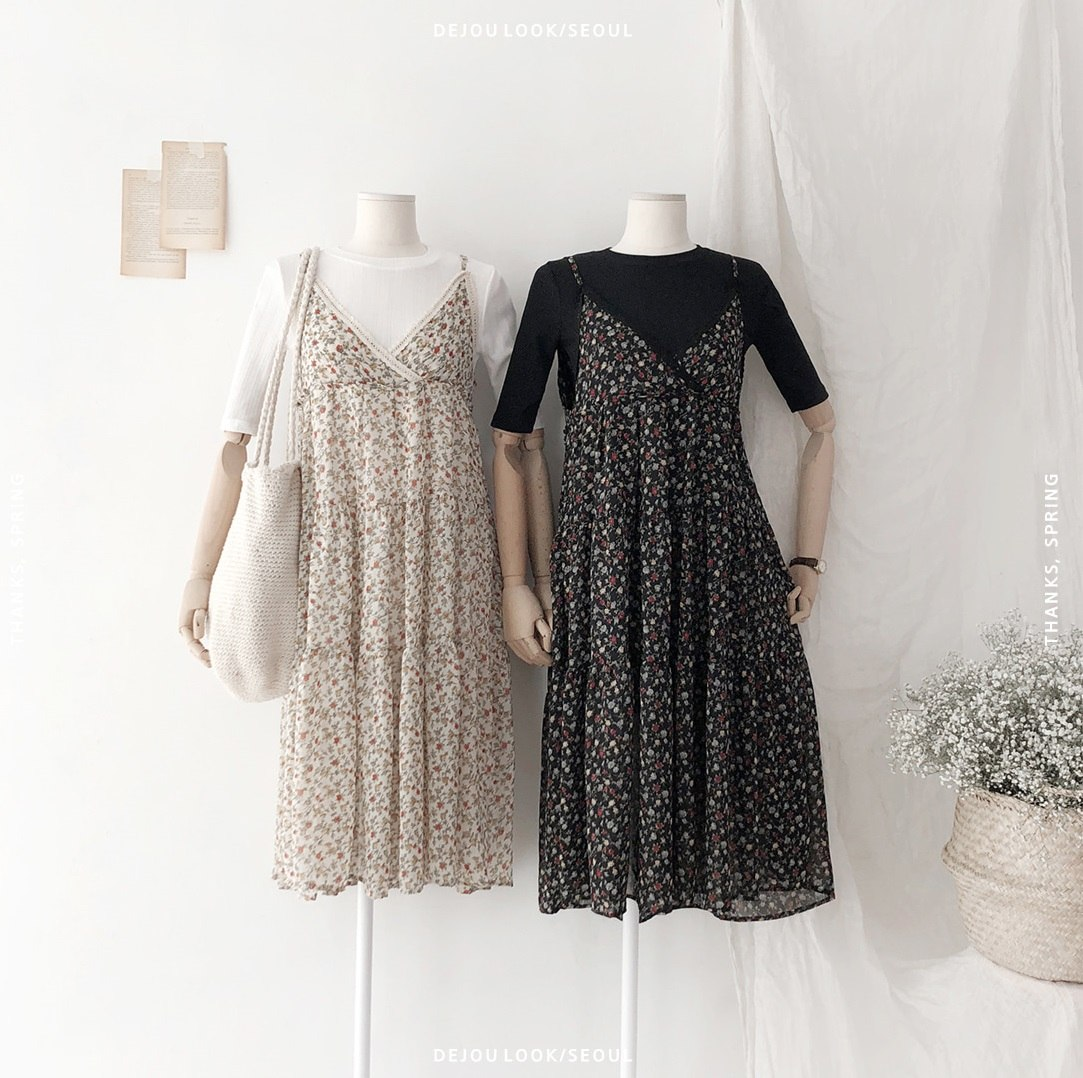 #星期五「連身洋裝當武器」: 星期五就是約會日啊!這天可別再穿什麼褲子啦!利用連身洋裝穿出女生的清新感,還保有一點可愛的味道。