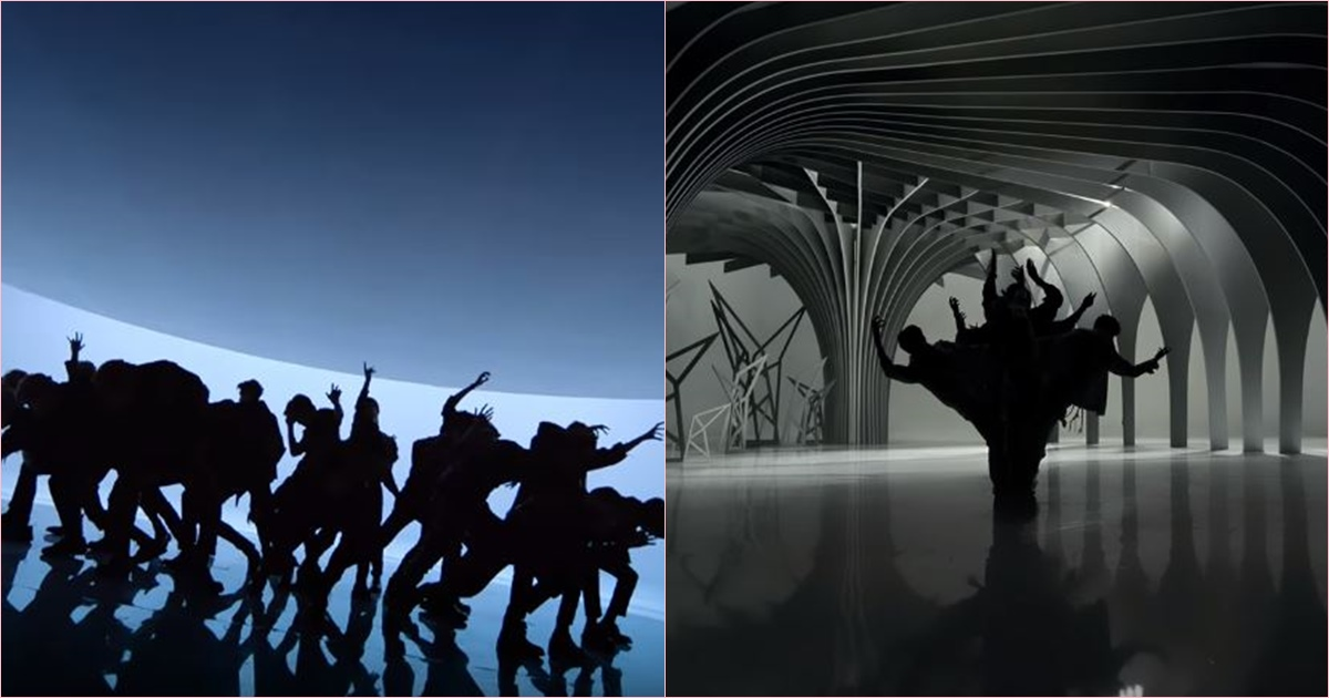 MV開頭不只可以看到SM神複製EXO的《Wolf》剪影畫面,從開頭就讓人對編舞充滿期待