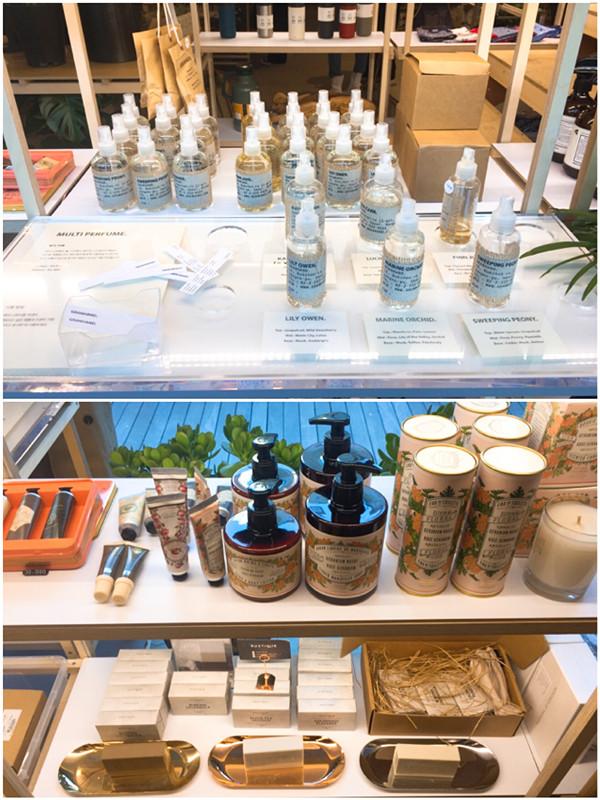 生活小物從香水到一些生活用品都有哦!價格算是中價位,拿來當伴手禮帶回國也超適合的!