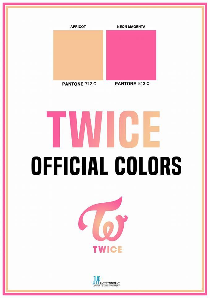 TWICE的應援色杏色與螢光洋紅如同水蜜桃般清新甜美的顏色不僅符合形象,更有著TWICE和粉絲ONCE永遠不分開的意思! 不能不說這兩個顏色真的選的真好啊ㅠㅠ