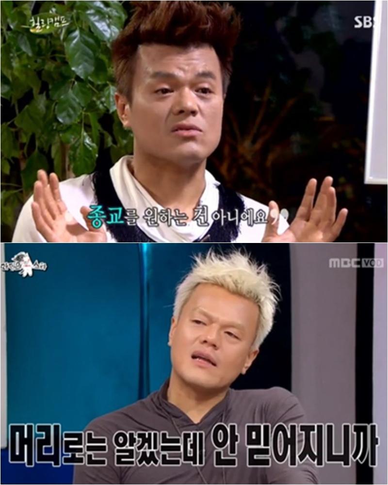 過去2012年、2013年JYP都曾在節目上說過自己是「無宗教」,即使對宗教有研究,但是理智一直讓他「無法相信」教派。但過去曾這麼說的JYP,卻被報導在2014年開始有了相當大的轉變