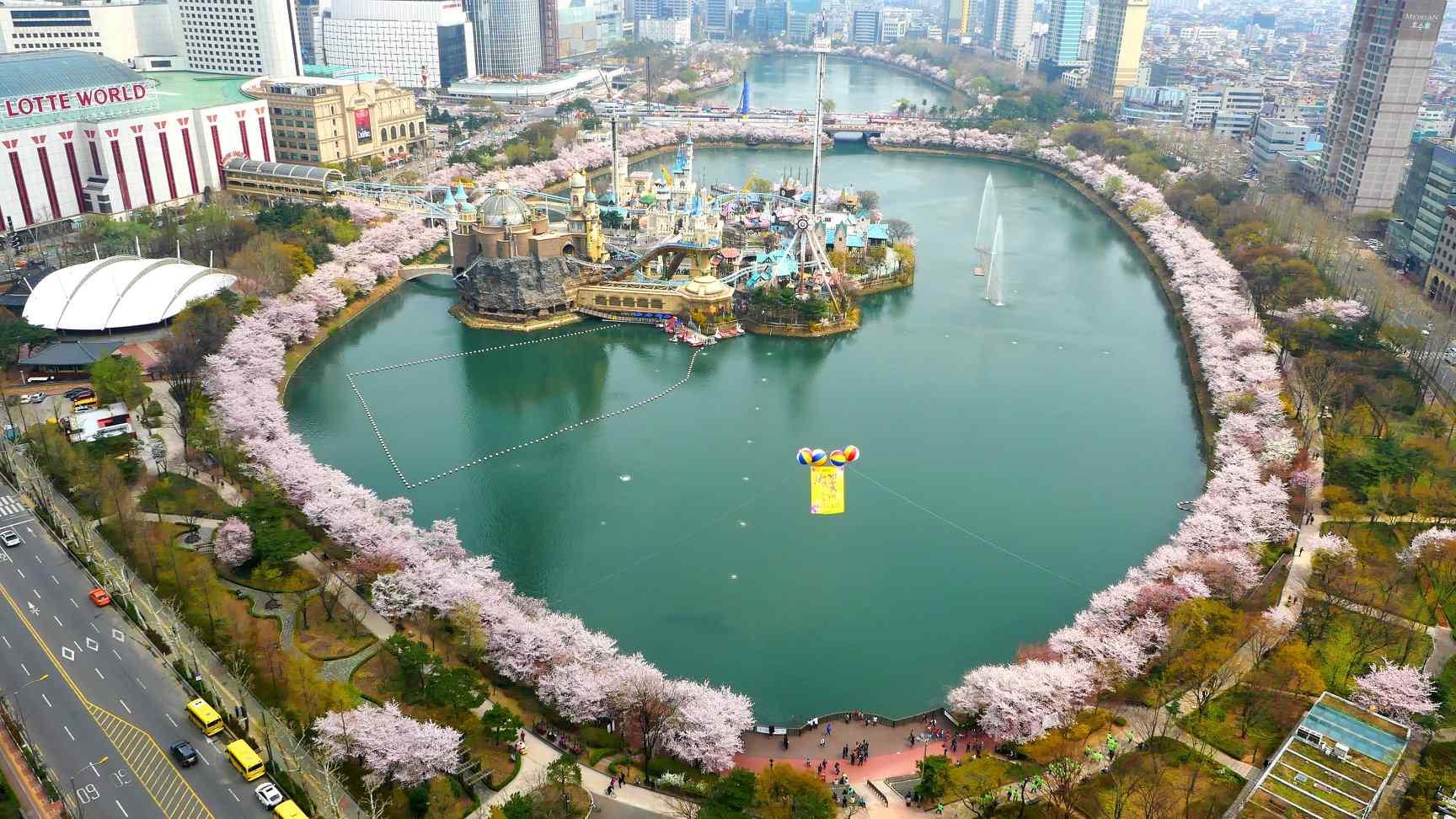 6.蠶室 - 34% 韓國最高的建築物樂天世界大廈,樂天世界,石村湖水公園,樂天百貨蠶室店