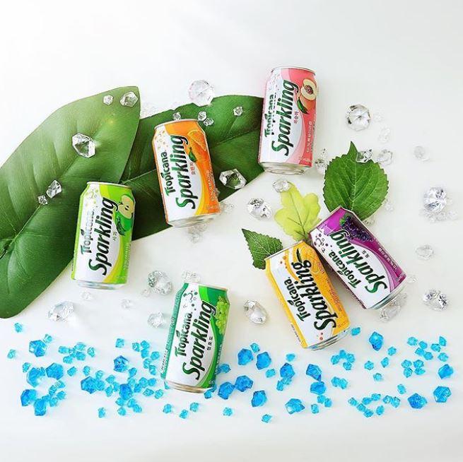 #9 純品康納 有氣飲品 (桃味、芒果、蘋果、葡萄、柳橙) 販賣量:280億韓元