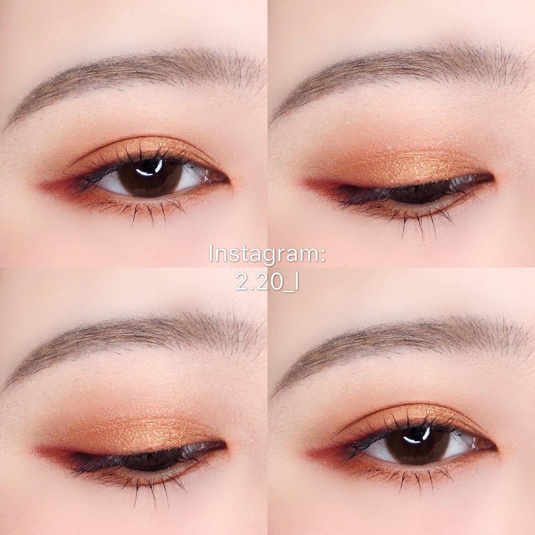 #Warm Brown的眼妝就是比較偏溫暖的色調、比較冬天沒錯...但是看看它這麼美!先買來收著我也願意XDD