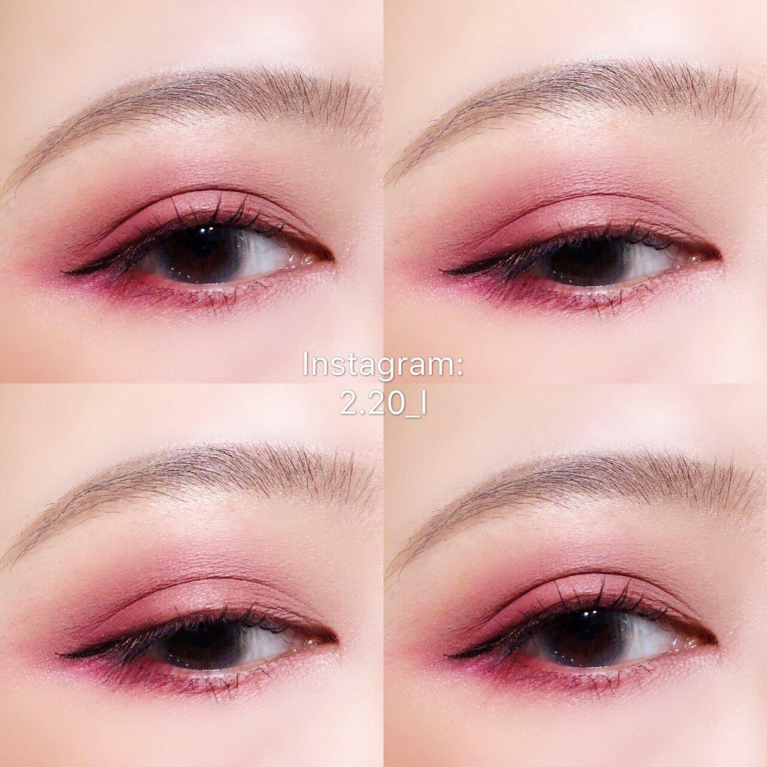 光靠#Mauve就可以完成輕甜感的玫瑰妝容!不得不說單看很誇張的玫瑰色,上眼之後卻變得很溫柔呢~