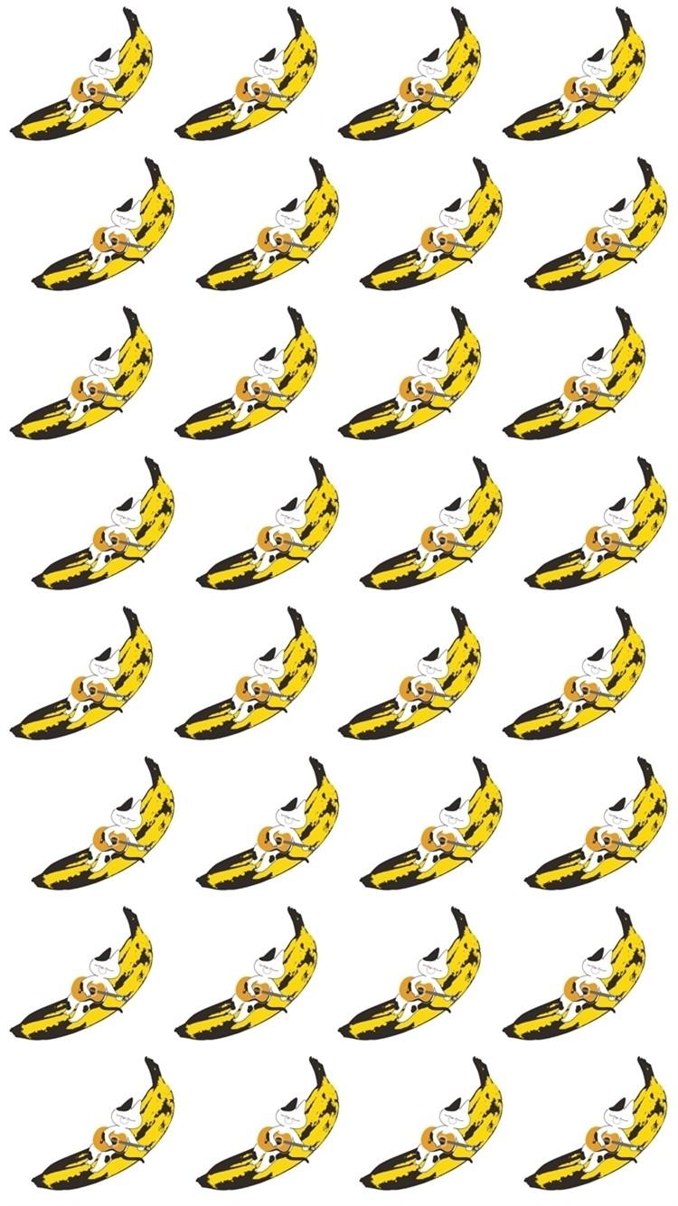 還有可愛的滿版系列,這次一共有三張喔~躺在香蕉上是哪招啦XDD