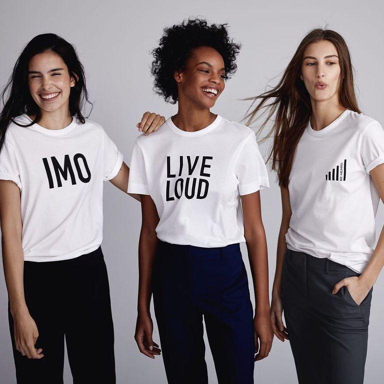 8. Theory 都會女士品牌Theory,經典高品質是它的一貫追求,版型更比前幾個牌子更適合上班女性。最近推出的標語T,大方秀出了品牌的經典宣言。