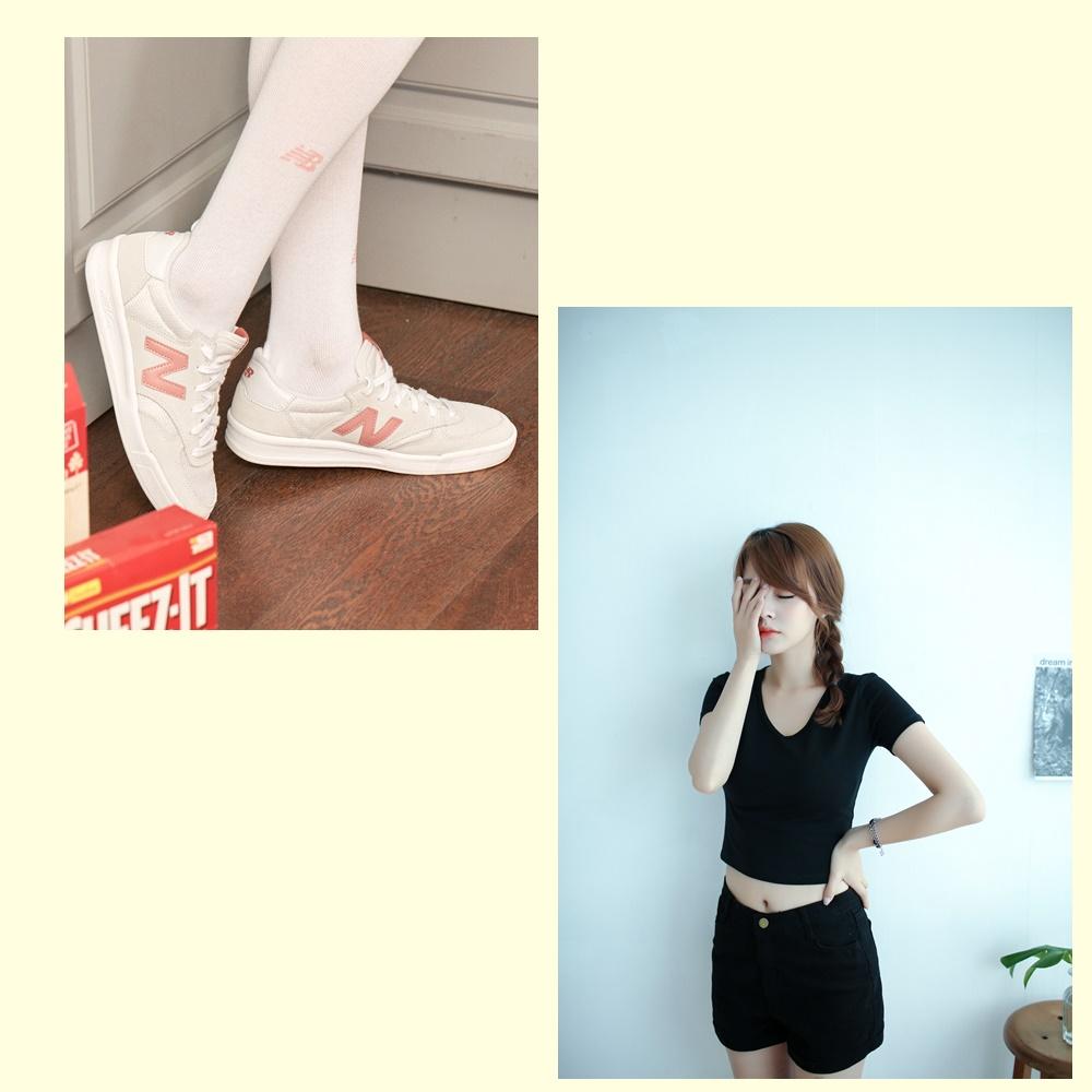 >粉嫩色鞋+深色系穿搭: 粉色系球鞋其實不算是非常百搭的單品,但基本上只要撇除全黑或是深色系的穿搭即可,否則會有種不搭感啊!